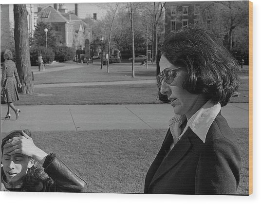 Brown University Student And His Mother, 1975 Wood Print