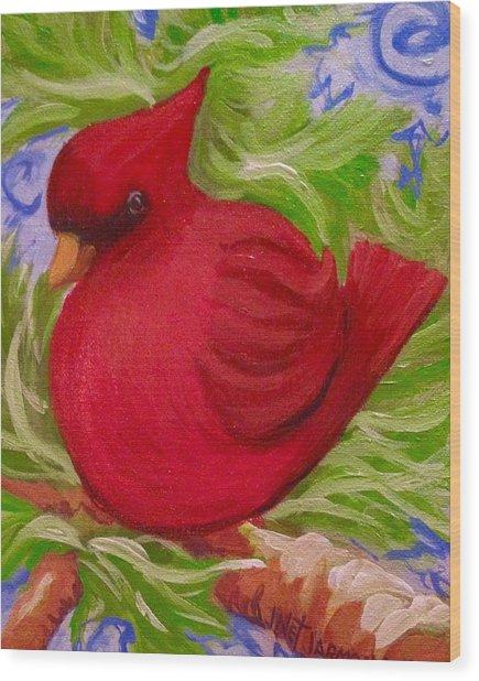 Brrr Bird Wood Print