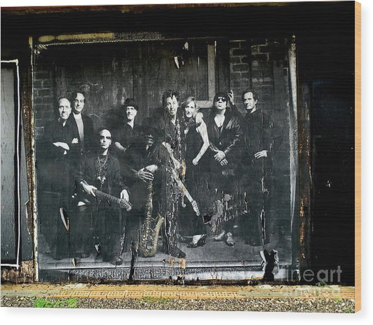 Bruce And The E Street Band Wood Print