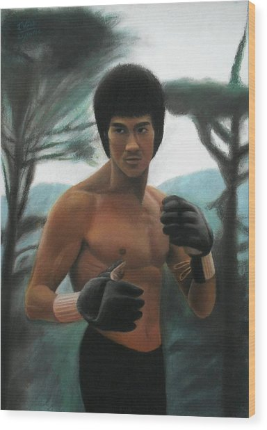 Bruce Lee - The Concentration  Wood Print