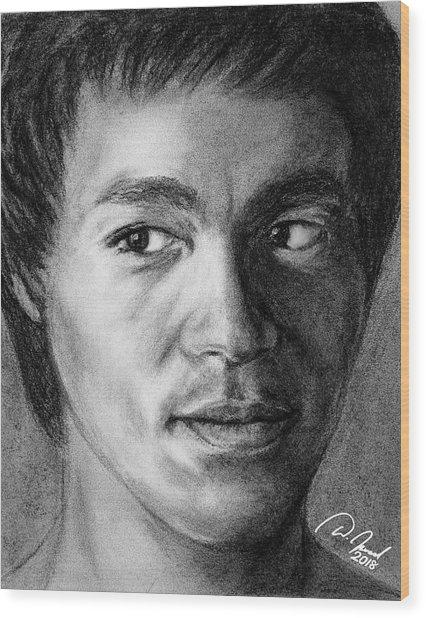 Bruce Lee Wood Print by Walter Israel