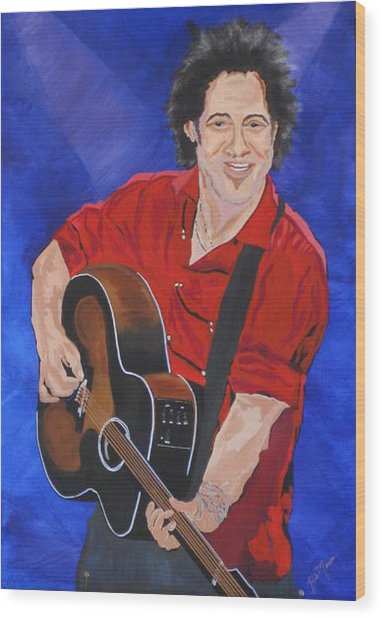 Bruce Springsteen-an American Boy Wood Print