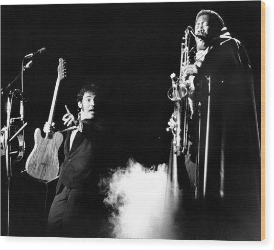 Bruce Springsteen - Halloween On E Street 1980 Wood Print