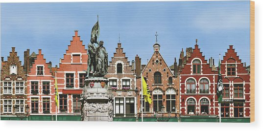 Bruge Wood Print by Julie Geiss