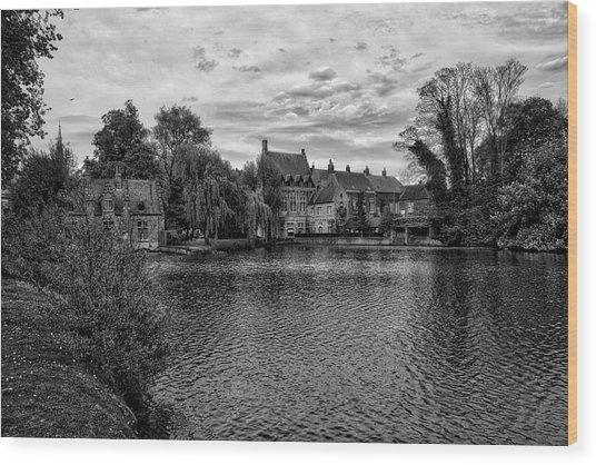 Bruges Bw1 Wood Print