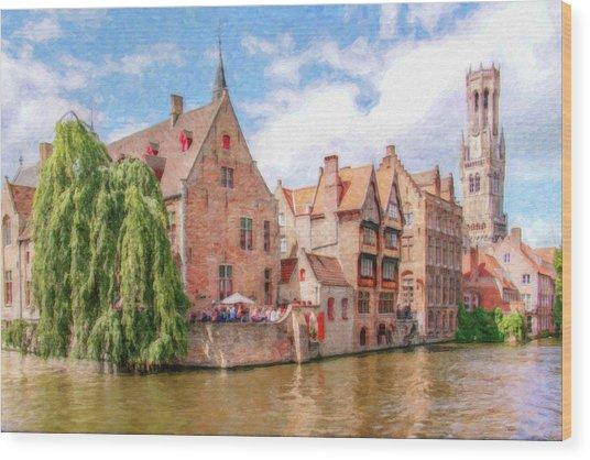 Bruges Canal Belgium Dwp-2611575 Wood Print