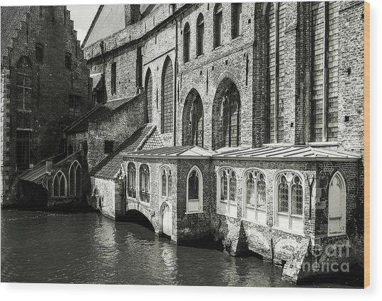 Bruges Medieval Architecture Wood Print