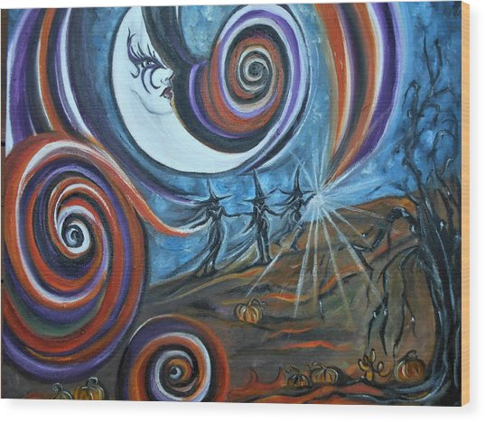 Bruja Luna Wood Print