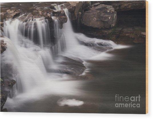 Brush Creek Falls Wood Print