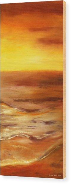 Brushed 5 - Vertical Sunset Wood Print