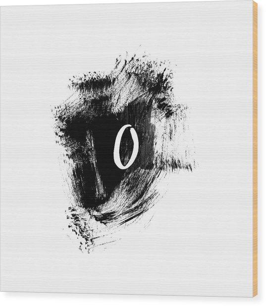 Brushstroke O -monogram Art By Linda Woods Wood Print