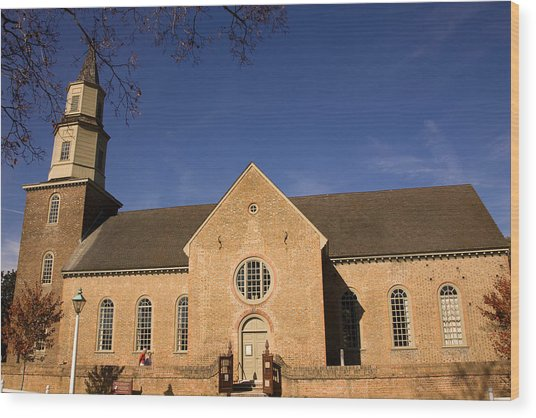 Bruton Parish Church Wood Print