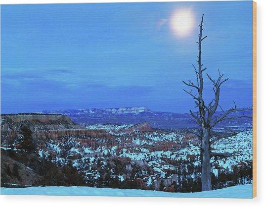Bryce Blue Wood Print
