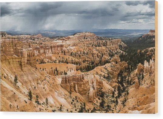 Bryce Canyon Storm Wood Print