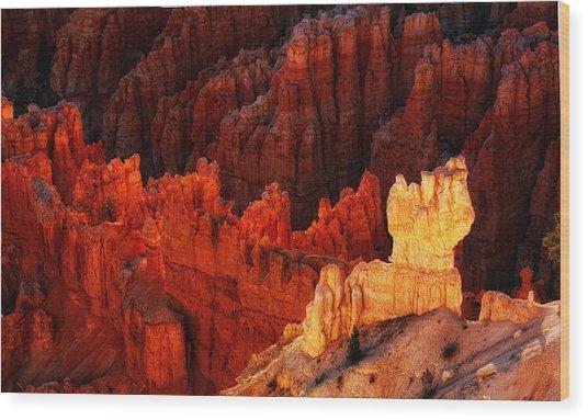 Bryce Canyon Sunrise Wood Print by Bob Coates