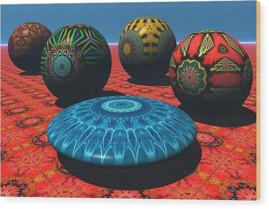 Bryce Kaleidoscope Sampler Wood Print