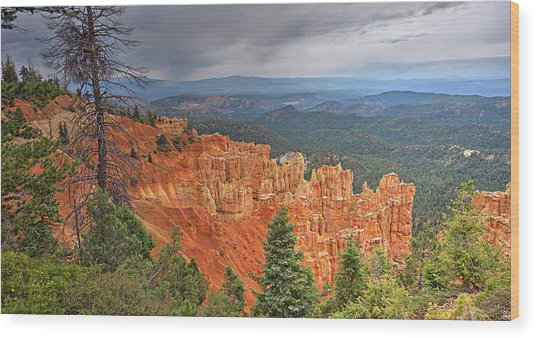 Bryce Squall Wood Print