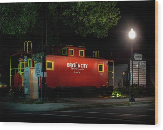 Bryson City  Caboose Wood Print