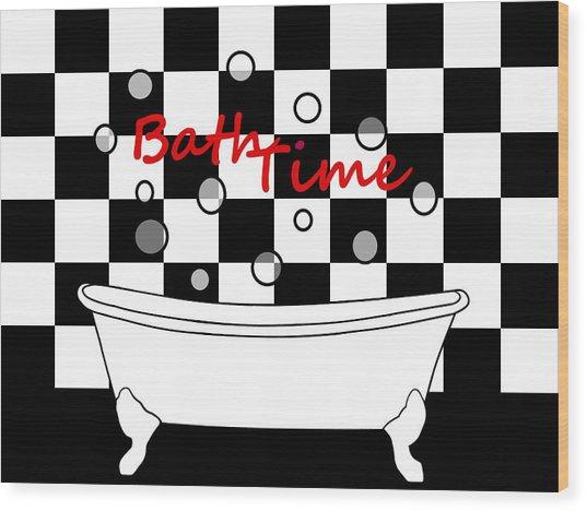 Bubble Bath - Bathroom Decor Wood Print
