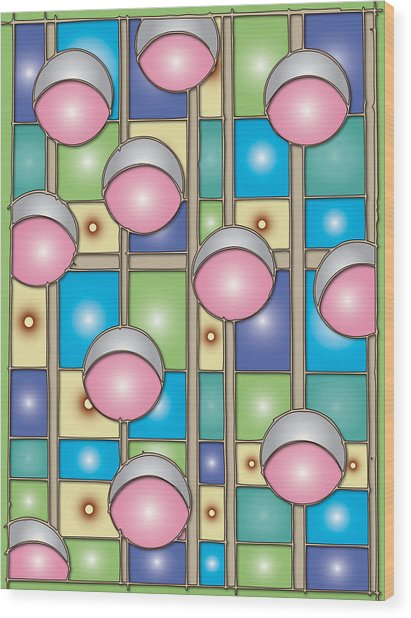 Bubble Gum Holidays Wood Print by Marta Podkul