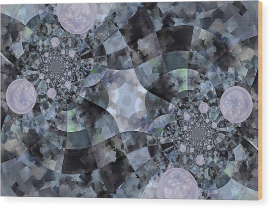 Bubble Road Wood Print