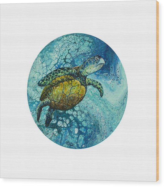 Wood Print featuring the painting Bubble Surfer  by Darice Machel McGuire