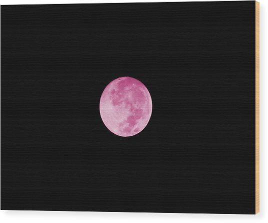 Bubblegum Moon Wood Print