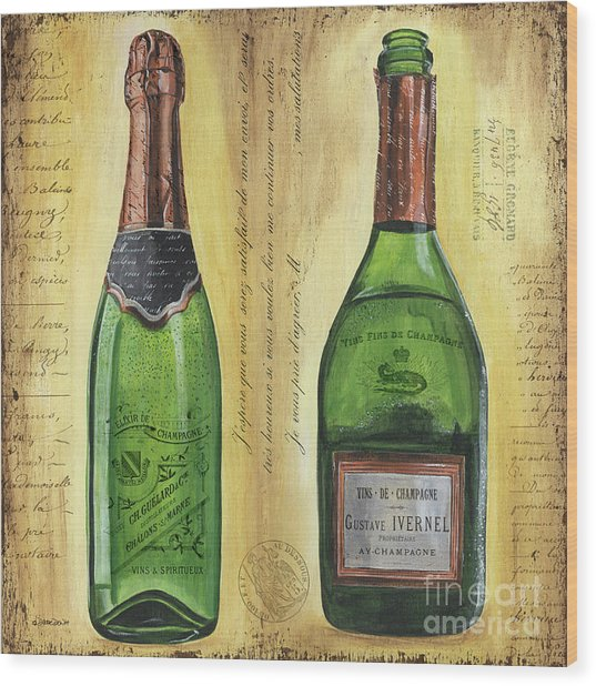 Bubbly Champagne 1 Wood Print