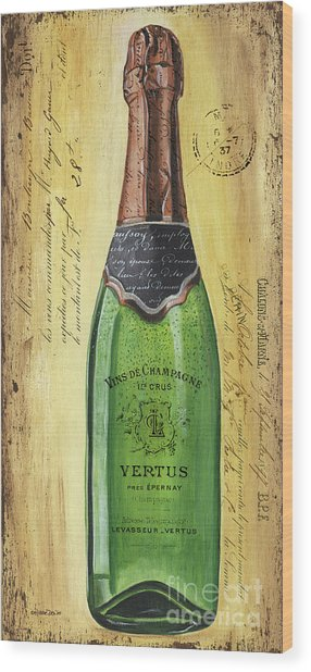 Bubbly Champagne 2 Wood Print