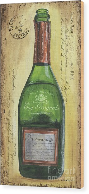 Bubbly Champagne 3 Wood Print
