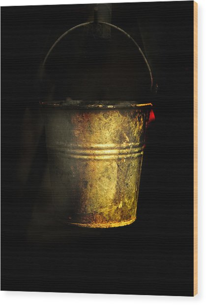 Bucket One Wood Print by Clyde Replogle