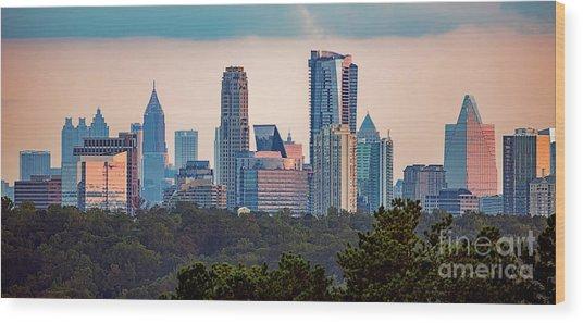 Buckhead Atlanta Skyline Wood Print