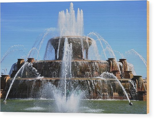 Buckingham Fountain 2 Wood Print