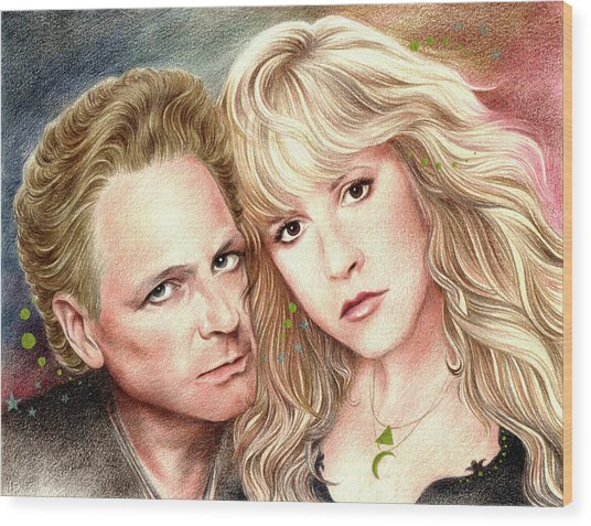 Buckingham Nicks Wood Print