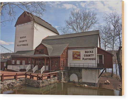 Bucks County Playhouse I Wood Print