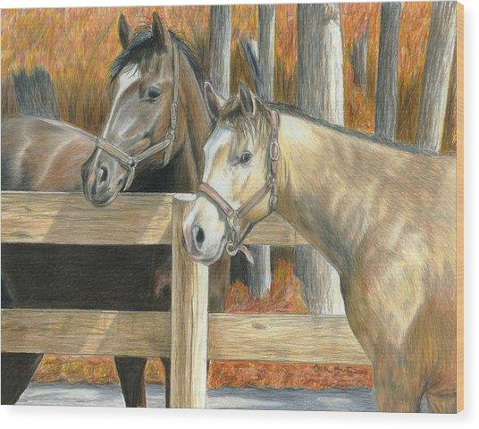 Buck's Pal Wood Print