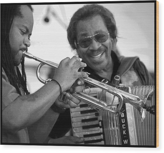 Buckwheat Zydeco Wood Print