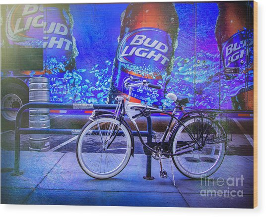 Bud Light Schwinn Bicycle Wood Print