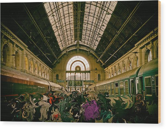 Budapest Keleti Railway Station Wood Print