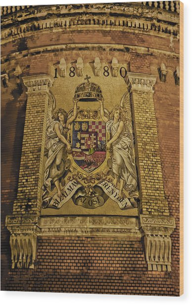Budavari Palota Coat Of Arms Wood Print