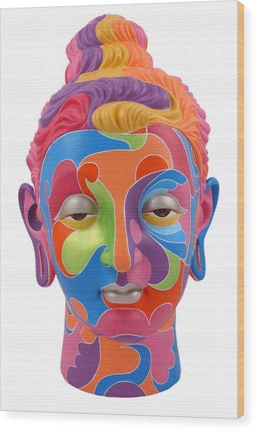 Buddha - Abstract-1 Wood Print