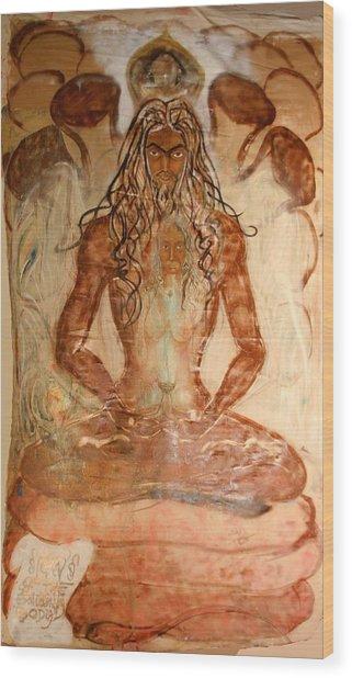 Buddha Body Wood Print by Brian c Baker