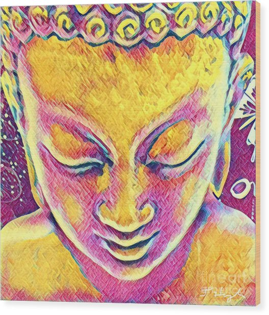 Buddha Dreams Wood Print