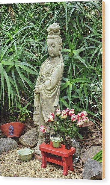 Buddha Garden I  Wood Print