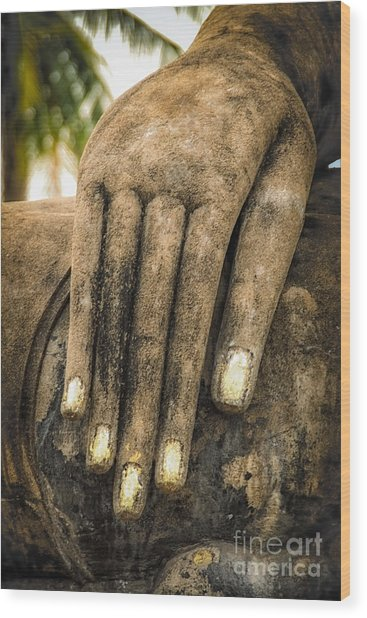 Buddha Hand Wood Print