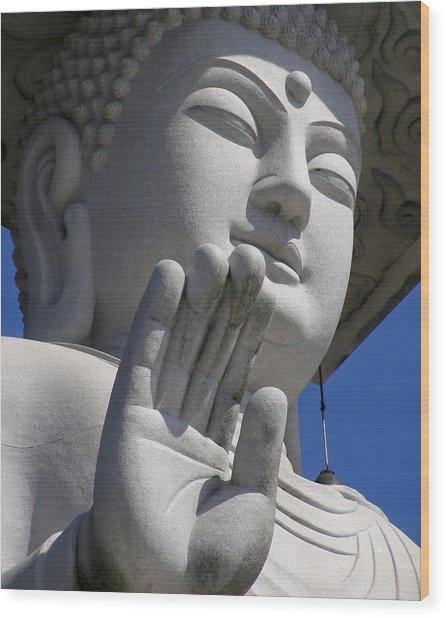 Buddha Wood Print by Mary Lane