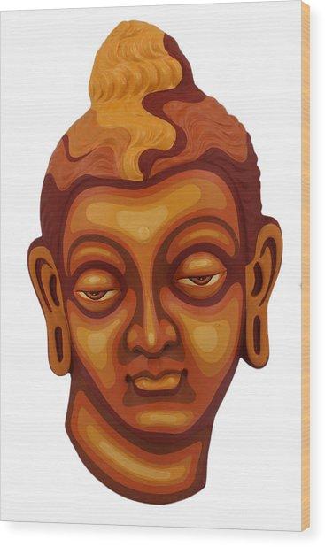 Buddha - Relief-1 Wood Print