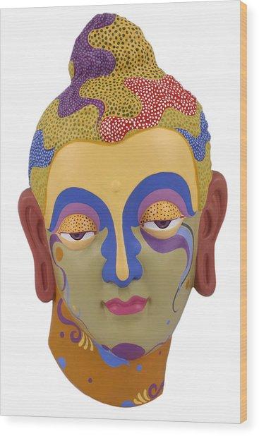 Buddha - Relief-2 Wood Print