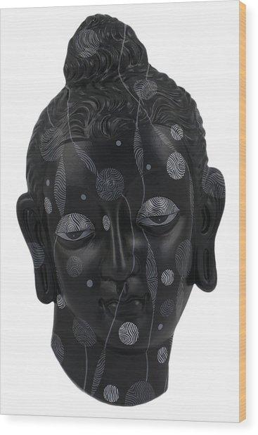 Buddha - Relief-4 Wood Print