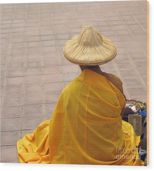 Buddhist Monk Wood Print